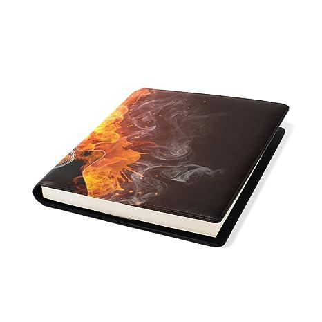COOSUN Guitarra eléctrica del fuego y del agua Libro Medias estirable Cubierta de libro, se