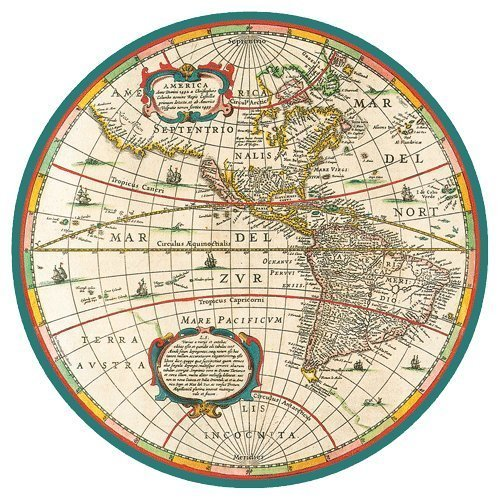 Piatti di carta cena Dimensioni Mappa del mondo 16count by Caspari