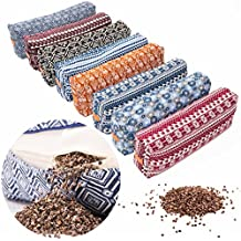 """#DoYourYoga Bolster / Cushion for Yoga, Meditation & Stress Relaxation - Filled with Natural Buckwheat (US-Farmproduct)- Size approx 26.4"""" x 5.1"""""""