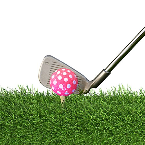 Golf Balls Purple AND Pink Polka Dot (Sleeve of 3)- 2 PACK by Navika (Image #3)