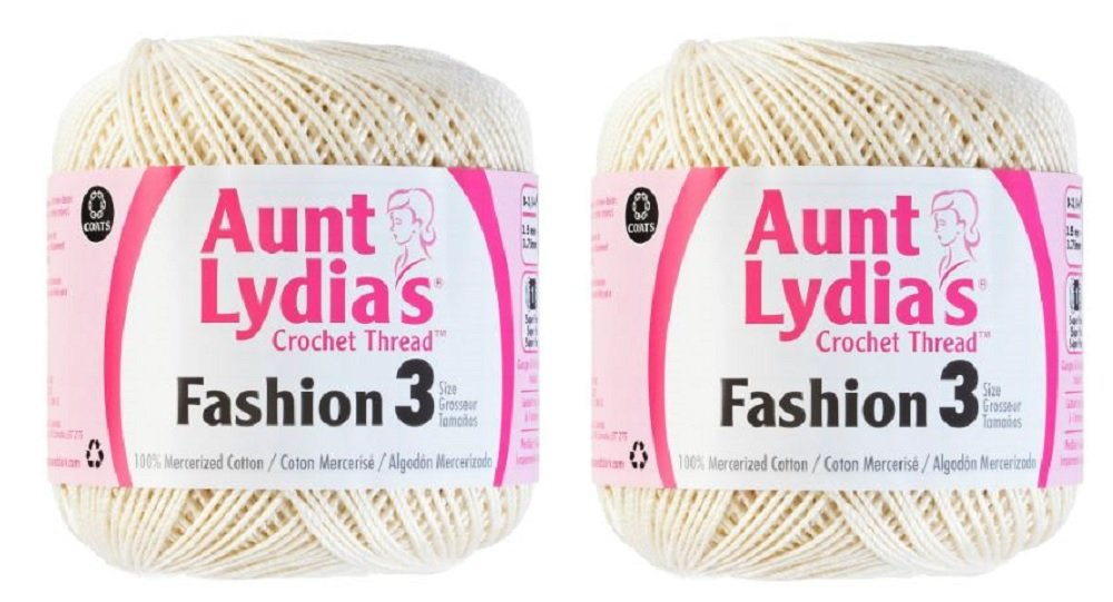 Aunt Lydia's Crochet Thread - Size 3 - (2-Pack) Natural PantryPlus