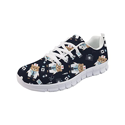 8bcd28437501c Amazon.com: Showudesigns Lace Up Fashion Sneakers Women Running ...