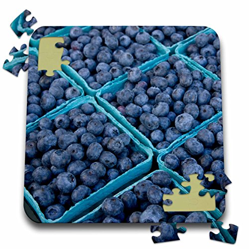 Danita Delimont - Markets - Oregon, Portland, Farmers market blueberries - US38 AJN0023 - Alison Jones - 10x10 Inch Puzzle (pzl_93402_2)