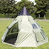 Best Choice Products10x10ft 6-Person Outdoor Family Camping Teepee Tent w/Carry Bag, Ventilation, and Windows -Green