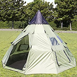 Best Choice Products 10'x10' Teepee Camping Tent Family Outdoor Sleeping Dome W/ Carry Bag