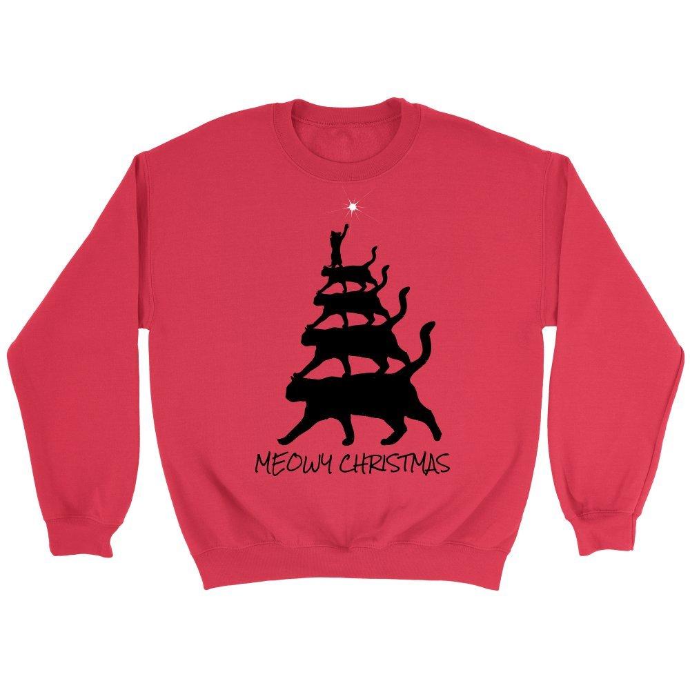 274a577d20a Amazon.com  Meowy Christmas Tree Plus Size Sweatshirt  Clothing