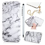 iPhone 6S Plus Case,iPhone 6 Plus Case,Badalink Marble Pattern Drop Protection Slim Fit Soft Gel Thin TPU Rubber Scratch-Resistant Premium Anti-Slip Shockproof Absorption Cover with IMD Technologyfor iPhone 6S Plus/6 Plus(Black & white)