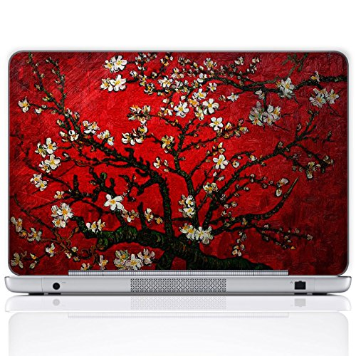 Meffort Inc 15 15.6 Inch Laptop Notebook Skin Sticker Cover Art Decal (Free wrist pad) - Van Gogh Cherry Blossom