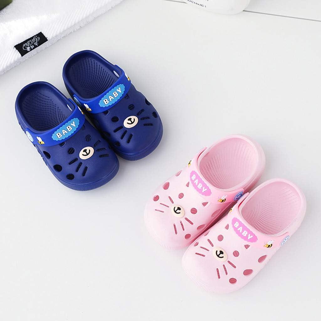 Huifa Toddler Infant Home Shoes Slippers Baby Kids Girl Boys Cartoon Cat Floor Sandals