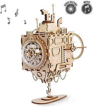 ROKR Kit de Caja Musical de Madera Puzzle de Madera 3D Mechanical ...