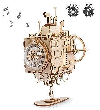 ROKR Kit de Caja Musical de Madera Puzzle de Madera 3D Mechanical Model Construction Kit-Proyectos Divertidos para Adultos y Niños - Maqueta 3D de ...