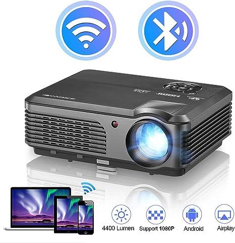 WIKISH WiFi Bluetooth Proyector HD 4200 Lumen LCD Proyector de ...