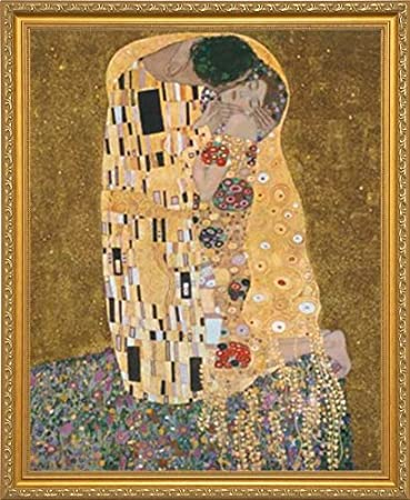 8 x 8 art prints amazoncom the kiss original der kuss by gustav klimt framed