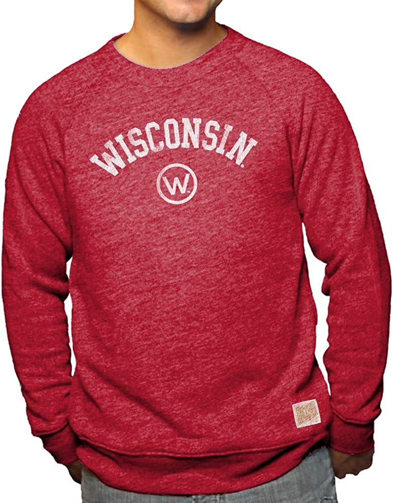 Elite Fan Shop NCAA Mens Tri Blend Crewneck Sweatshirt Team Color Retro