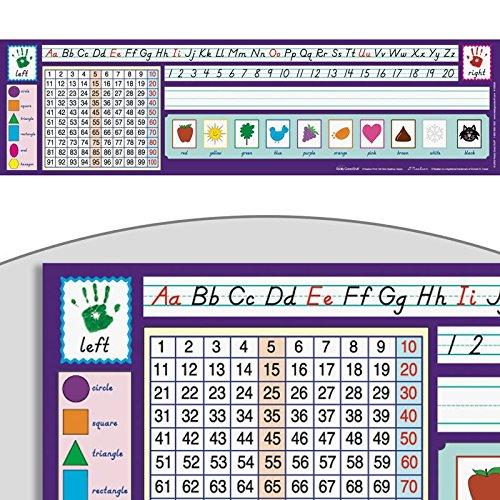 D'Nealian 100 Grid Desktop Helpers, Self-Adhesive Vinyl - Set of 24 (Top Student Plastic Desk)
