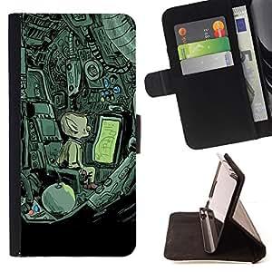 "For LG G4 Stylus / G Stylo / LS770 H635 H630D H631 MS631 H635 H540 H630D H542 ,S-type Nave espacial extranjera misteriosa Dibujo"" - Dibujo PU billetera de cuero Funda Case Caso de la piel de la bolsa protectora"