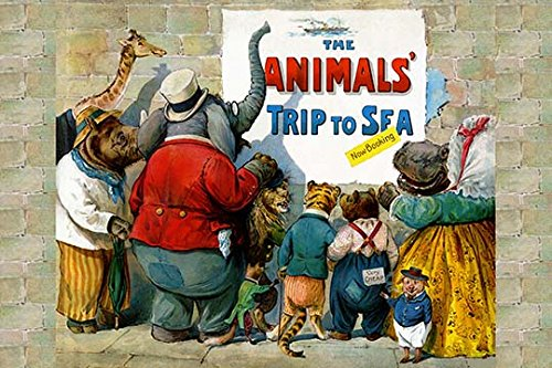 Buyenlarge 'The Animals Trip to The Sea' Paper Poster, 20 by 30-Inch - Buyenlarge Animals