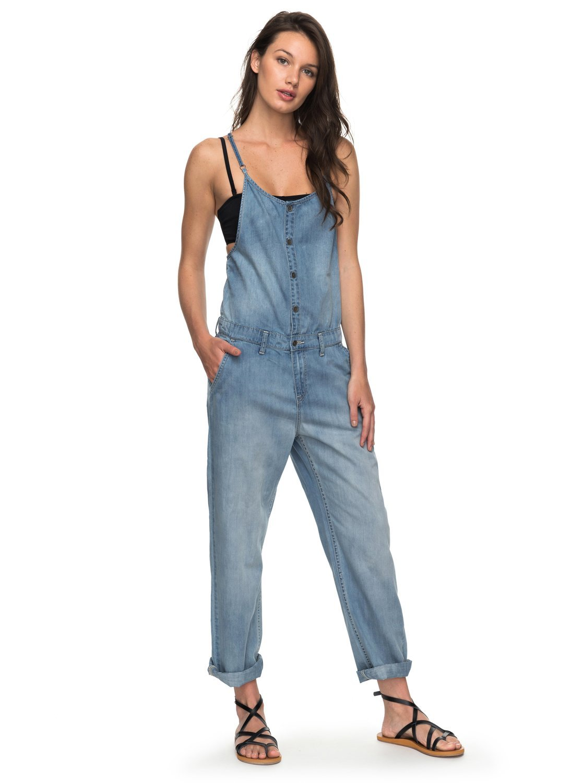 Roxy Junior's Fashion Overalls, Medium Blue, XS