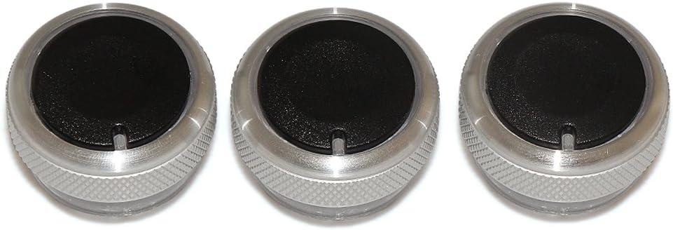 Lot Aire Acondicionado Control De Calor Conmutador Perilla De La CA Perilla De Coche con Estilo Negro PolarLander 3pcs