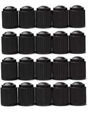 iTimo 20Pcs/Lot Universal Aluminum Car Tyre Air Valve Caps, Bicycle Tire Valve Cap, Car Wheel Styling Round Black
