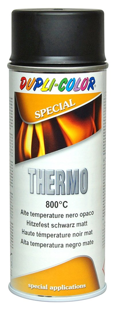DUPLI COLOR 401052  Thermo Lack Spray, 800  Grad Celsius, 400  ml, schwarz matt Motip Dupli GmbH