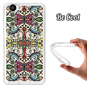 BeCool® - Funda Gel Flexible Wiko Slide 2 Colorful Abstract Flowers Carcasa Case Silicona TPU Suave