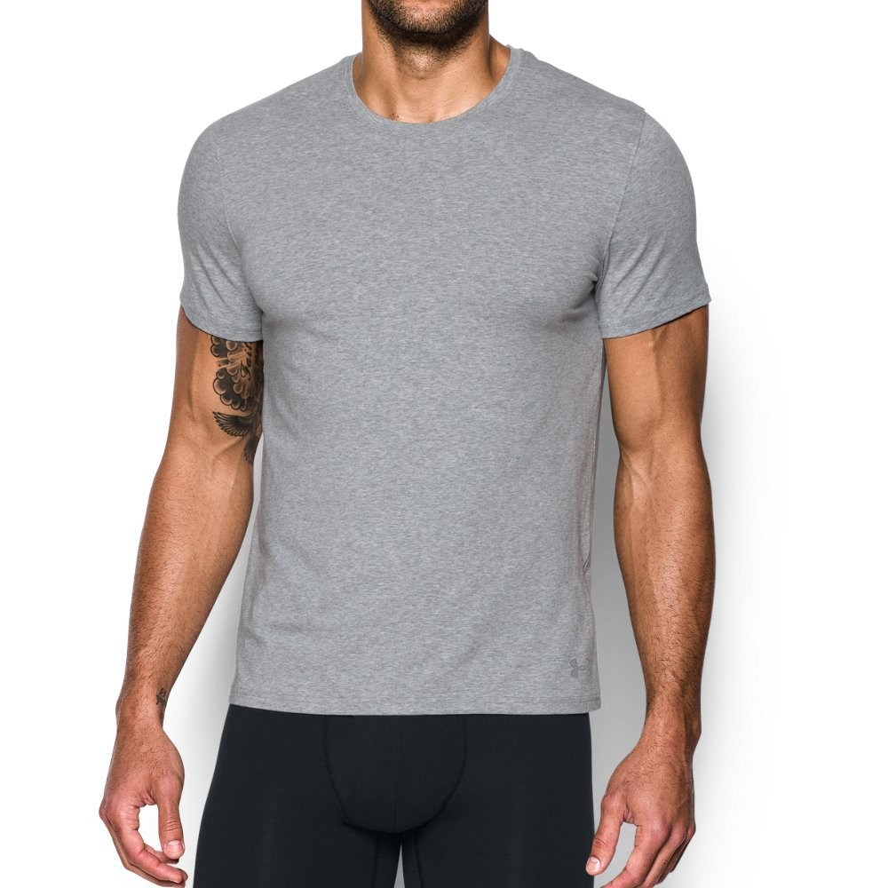 Under Armour Charged Cotton Crew Undershirt – 2-Pack XXXX-Large True Gray Heather