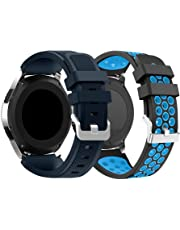 CSVK Compatible Samsung Galaxy Watch 46mm/Gear S3 Frontier/Classic Watch Band, Soft Silicone Replacement Sport Strap Wristband Bracelet for Samsung Gear S3 Frontier/S3 Classic Smart Watch
