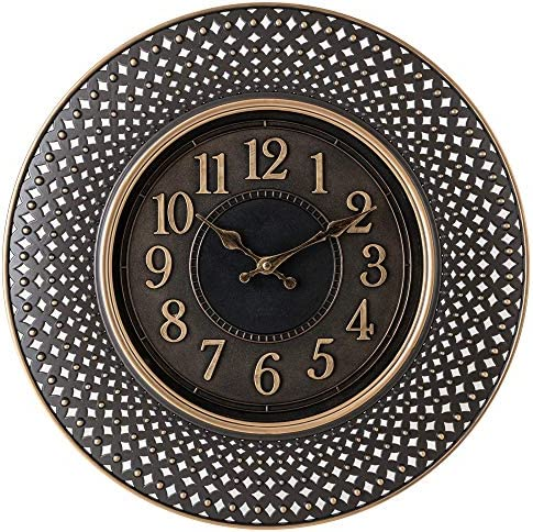 Pacific Bay Warendorf Large Decorative Light-Weight 16-inch Wall Clock Silent