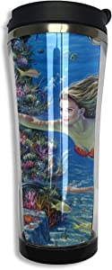 14oz Double-layer Vacuum Insulated Stainless Steel Bottle 304 Stainless Steel Insulated Water Bottles Mermaid Kingdom Syreny Delfin Wallpaper13809 Nevse Stainless Travel Mug For Men Women