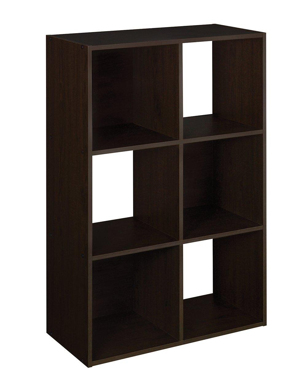 Amazon com closetmaid 78815 cubeicals organizer 6 cube espresso closetmaid home kitchen