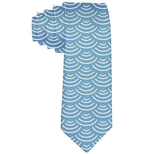 Ola de los hombres Sirena Escamas de pescado Corbata azul cielo ...