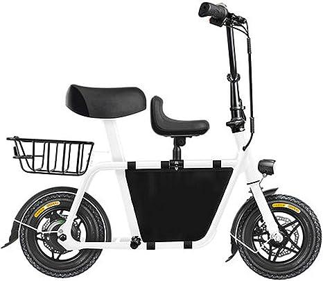 LPsweet Bicicleta Plegable Eléctrica, Adulto De Dos Ruedas Mini ...