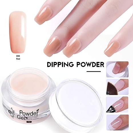 Saviland Dip clavos en polvo, manicura natural de uñas artificiales sin lámpara. Pasa ...