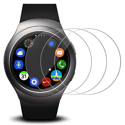 AFUNTA Protector de Pantalla para Samsung Gear S2 Reloj Elegante, 3 Paquetes Vidrio Templado película Anti - arañazos Escudo de Alta definición