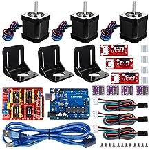 Professional 3D printer CNC Kit for arduino, kuman GRBL CNC Shield +UNO R3 Board + RAMPS 1.4 Mechanical Switch Endstop + DRV8825 A4988 GRBL Stepper Motor Driver with heat sink + Nema 17 Stepper Motor