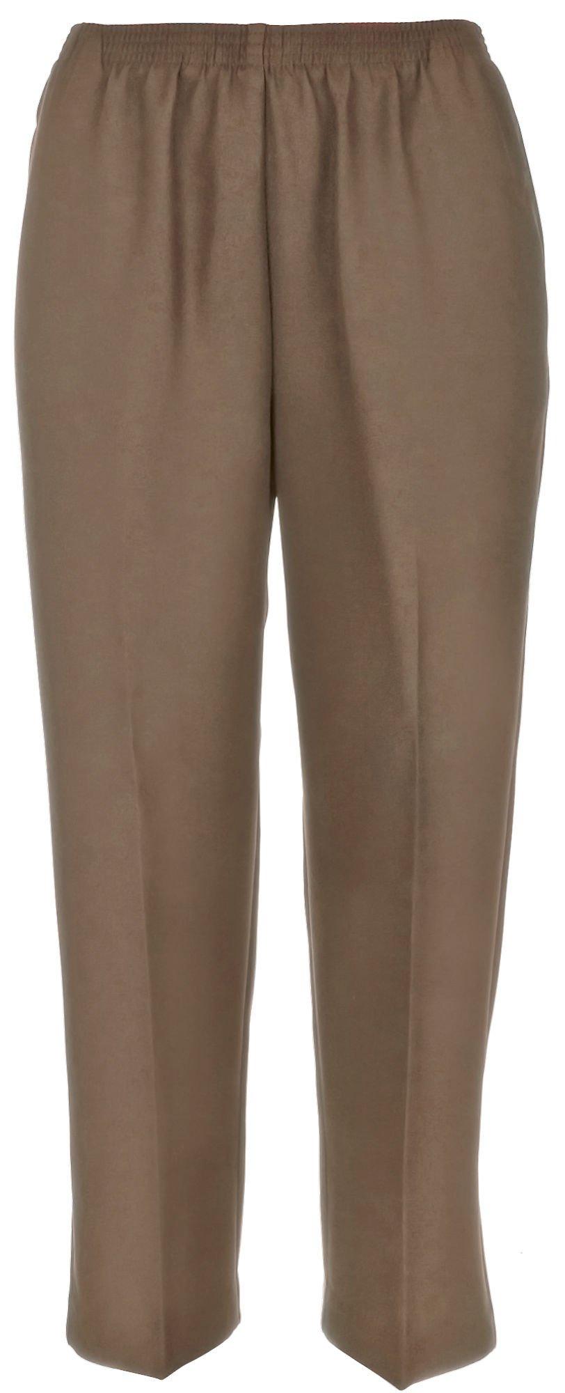 Alfred Dunner Women's Petite Polyester Pull-On Pants - Short Length, Tan, 10 Petite Short