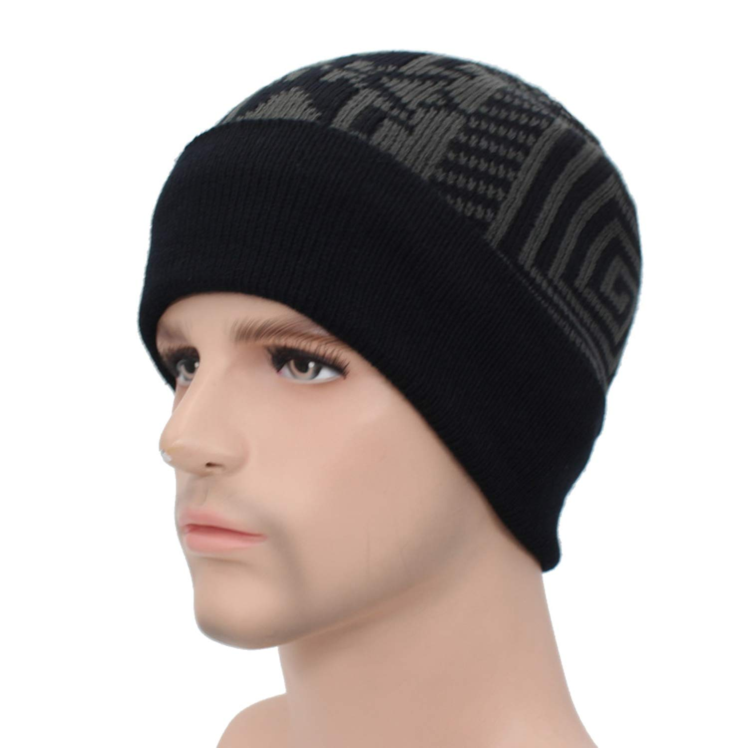 9211229c3 Skullies Beanies Winter Knitted Hat Beanie Scarf Men Winter Hats for ...