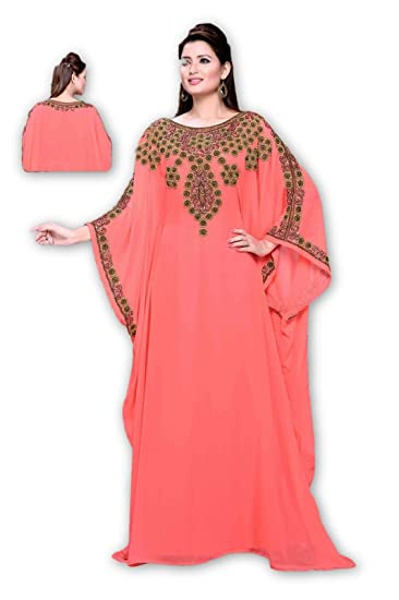 MEHREEN CREATION New Modern Arabian Moroccan Kaftan Dress for Women 7010  (5XL) 44a4b865364