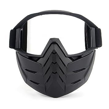KKmoon Gafas Desmontable Máscara del Moto Cascos Abierto para Esquí Snowboard Motocross