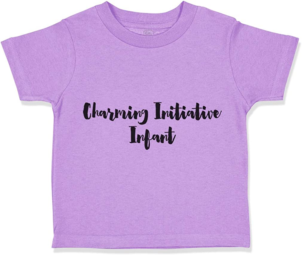 Custom Toddler T-Shirt Charming Initiative Irritated Infant Funny Humor Cotton