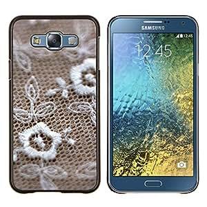 TECHCASE---Cubierta de la caja de protección para la piel dura ** Samsung Galaxy E7 E700 ** --Joyería textura