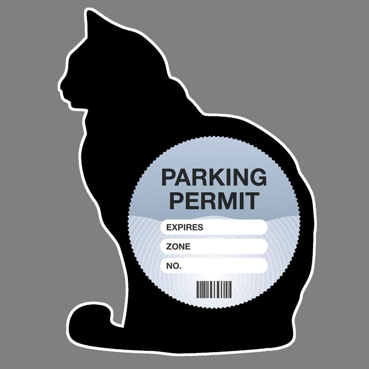 Parking Permit Holder Skin Black Cat Kitten Silhouette - Free UK Postage Artisticky