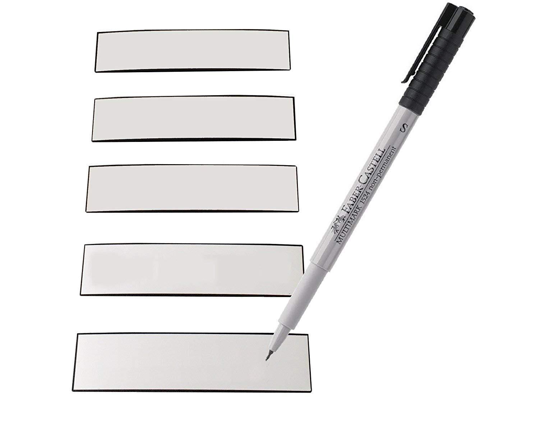 EisenRon-étiquettes aimantées inclus écrire feutre inclus aimantées couleur : Blanco 3b5573