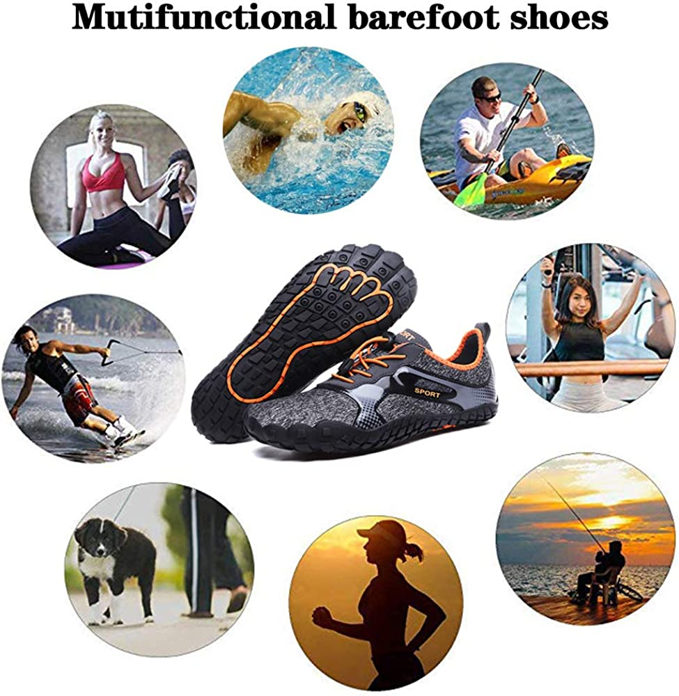 Aliwendy Mens Minimalist Trail Barefoot Shoes Quick Dry Wide Toe Box Fishing Beach Hiking Water Shoes
