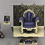 hampton bulldog bar - Uhoo Bathroom Suits & Shower Curtains Floor Mats And Bath Towels 67104271 Modern Baroque armchair with decorative frame in luxury interior For Bathroom