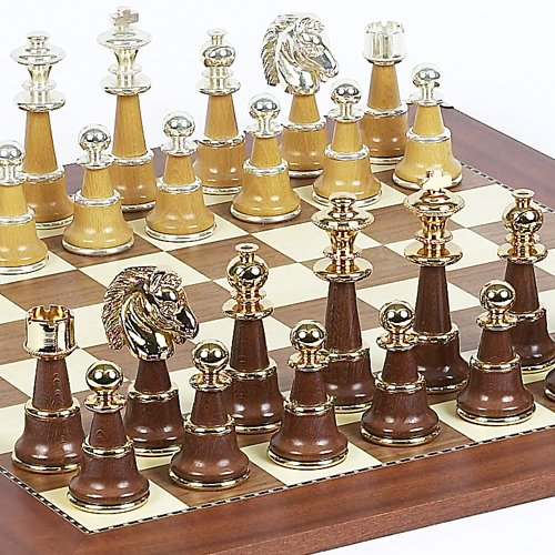 (Sorrento Chessmen From Italy & Astor Place Chess Board From Spain)