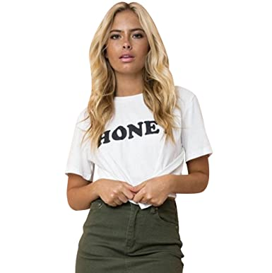 fashion style look out for best deals on T Shirt Manche Courte Femme Imprimé Tee Shirt Manches ...