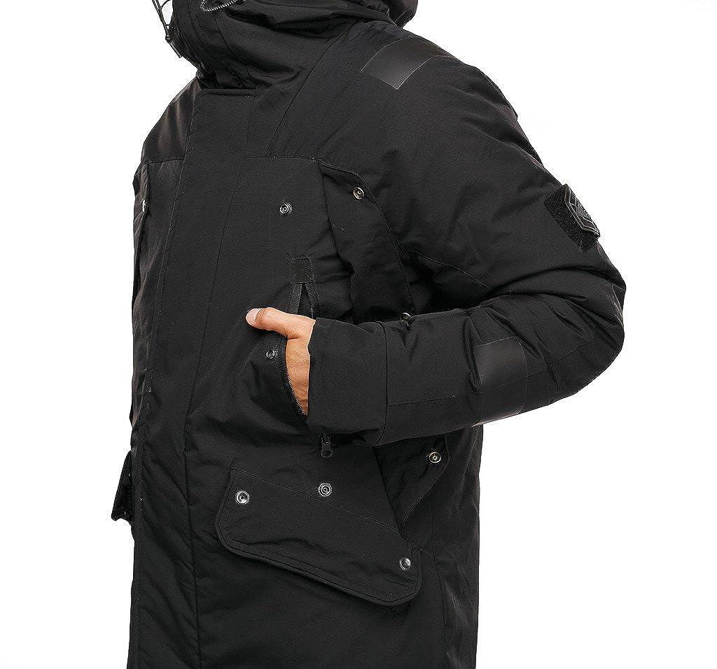 rilasciare informazioni su 7edca cda91 Cappotto Parka lungo invernale comfort alta qualità da uomo ...