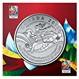 FIFA Women's World Cup 2015 Mint Proof $20 Canadian Pure Silver Coin. FIFA Official Licensed Product.